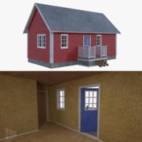Scandinavian cabin three with interior full