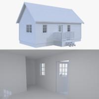 Scandinavian cabin three with interior