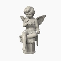 3d max angel statue