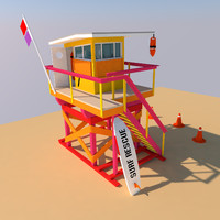 VRTX Lifeguard Tower Low poly