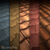 Hand Painted Roof Texture Vol.05