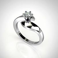 Engagement ring with round gemstone 001