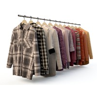 Set of men's wear, shirt, blouse, shirt, cardigan,