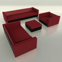 Boconcept Sofa, armchair, pouf, table