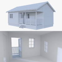 Scandinavian cabin four with interior