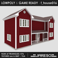 Lowpoly family house - f_house016.rar