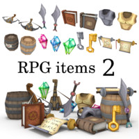 low-poly RPG item collection 2
