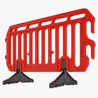 Plastic Crowd Control Barrier 02