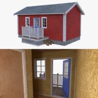 Scandinavian cabin five with interior full