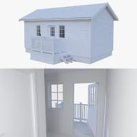 Scandinavian cabin five with interior