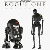 K-2SO and C2-B5 Star Wars droids
