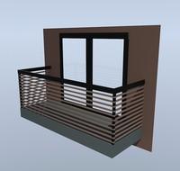 Hi-tech Style Balcony