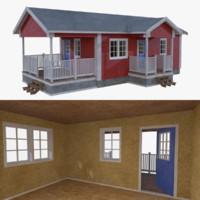 Scandinavian cabin six with interior full