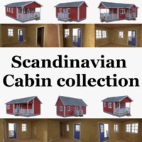 Scandinavian cabin collection with interiors full