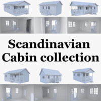 Scandinavian cabin collection with interiors