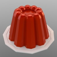 low poly jello pudding (game ready)