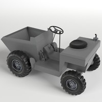 3d model tipper base mesh uv-unwrapped