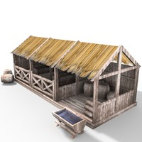 medieval Wooden Stable