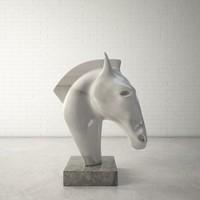 Custom Horse Head Sculpture