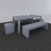 3d model outdoor furniture