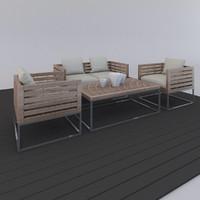 3d outdoor furniture model