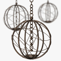 Louise Bradley - Lustre bronze globe