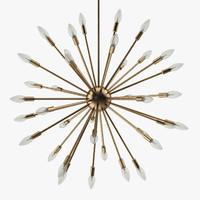 Maison Schembri - 36 lights brass sputnik light