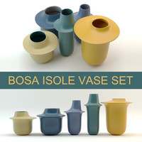 Photorealistic 3d model of modern vase design set Bosa Isole (High Poly, Vray and Corona render)