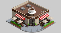 Low Poly Coffe Shop