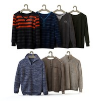 Set of men's wear, shirt, blouse, shirt, cardigan 2