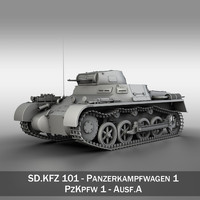 panzer light tank pzkpfw 3d model