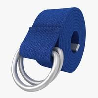 D-Ring Belt (Blue)