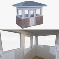 Guard house one with interior full