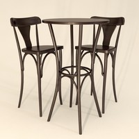 Table Atenas Express 60 + Chair Thonart Europa