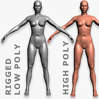 Female. Rigged Base Mesh