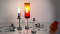 Tablelamp with rigged cable