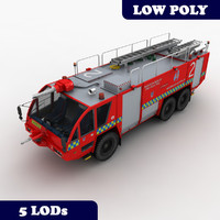 Fire Truck MK-8 Australia Red with LODs