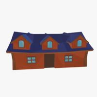 cartoon medieval house