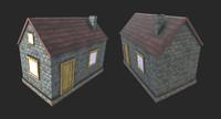 3d model house blender