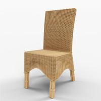 Manhattan Rattan Dining Chair with Rattan Pole Legs