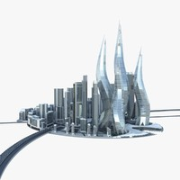 dubai towers city architecture buildings 3d max