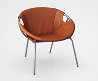Dries Leather Sling Chair by West Elm