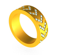 Chevron Pave Ring