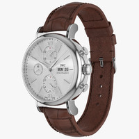 IWC Portofino Chronograph Closed Brown Leather Strap