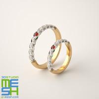 """Wedding rings """"Laurel"""