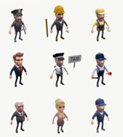 Cartoon people collection