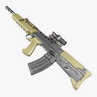 Assault Rifle L85A2 Scope Attached