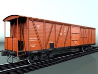 boxcar canadian type equipped with a hand brake