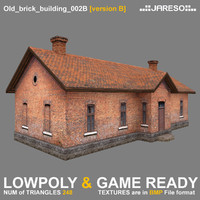 Lowpoly old brick building - old_brick_building_002b.rar