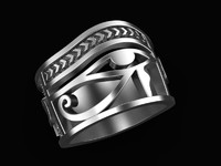 Ring Eye of Horus Ankh